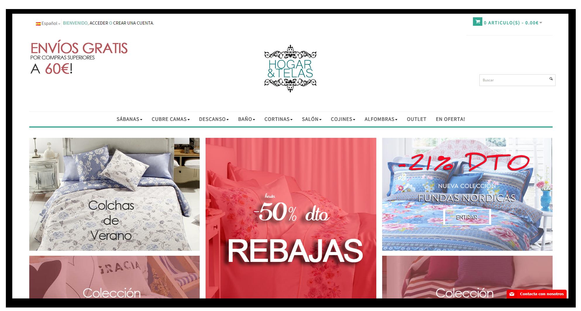 Diseño Web Hogar y Telas - Diseño Web en Extremadura