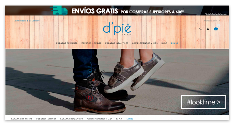 Diseño E-commerce D'pie Calzados